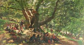 Robin Hood e gli allegri compari sotto la quercia nella foresta di Sherwood - Arcieri di Yr Bologna